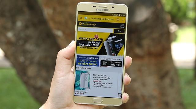Điện thoại samsung galaxy a9 pro sở hữu màn hình hiển thị sắc nét