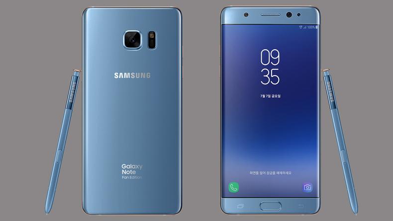 Điện thoại Samsung Galaxy note fe với thiết kế nổi bật