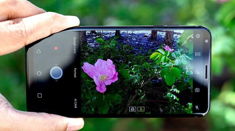 Chất lượng hình ảnh đẹp với cụm camera kép của điện thoại LG V35 Thinq cũ