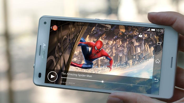 Hình ảnh hiển thị sắc nét của điện thoại Sony Z3 cũ