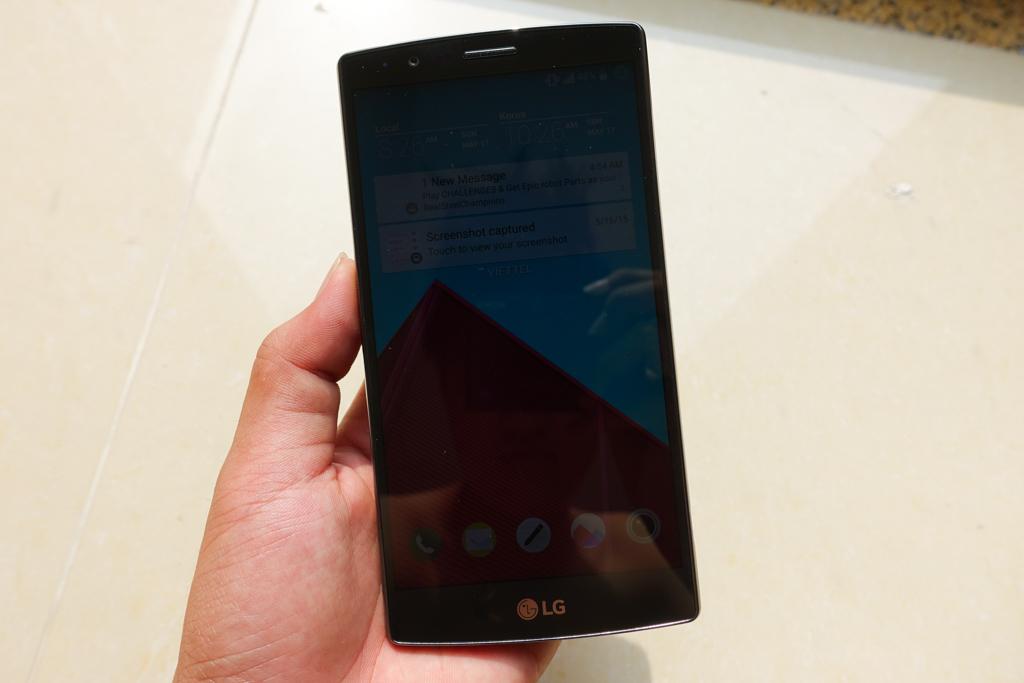 Màn hình hiển thị sắc nét trên điện thoại Lg G4