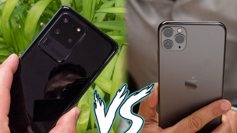 samsung s20 vs iphone 11 pro