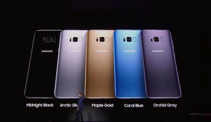 samsung galaxy s8 có mấy màu 2