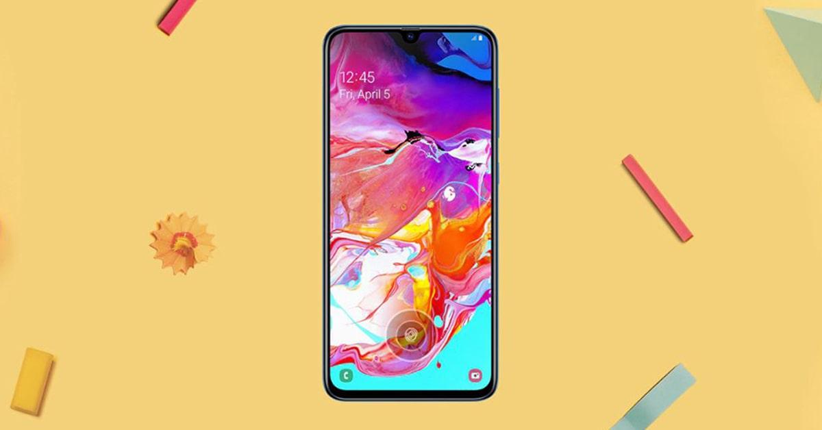 Thiết kế ngoại hình ấn tượng của Samsung Galaxy A70 giá rẻ