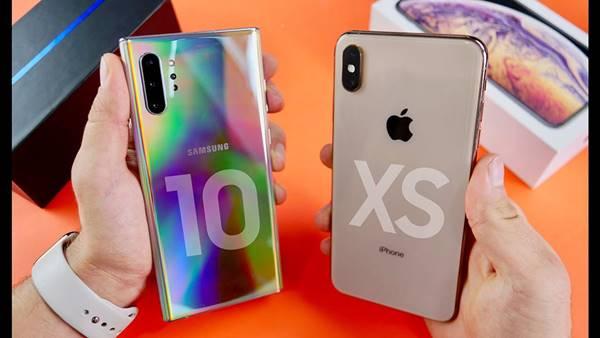 Cả samsung note 10 plus và iphone xs max đều sở hữu sức mạnh vượt trội